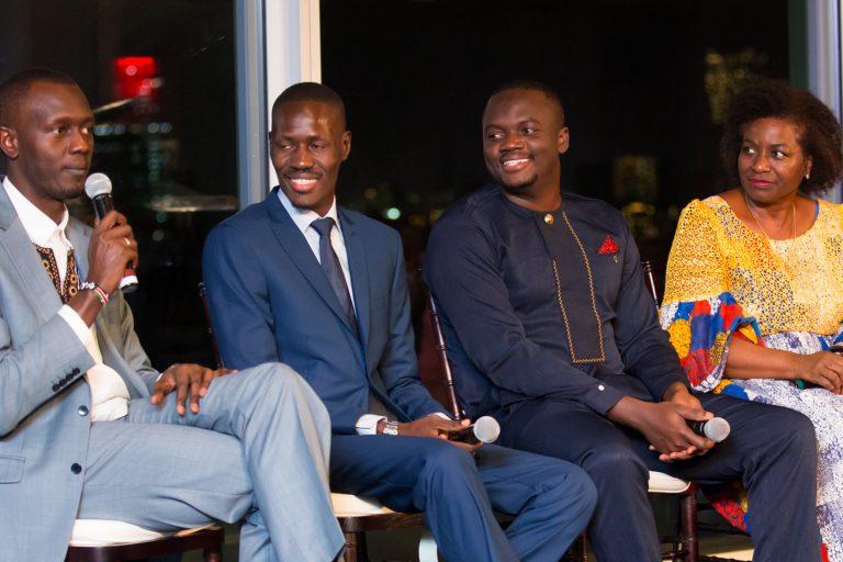 Tonee Ndungu, Gerald Abila and Alloysius Attah with Dr. Nathalia Kanem